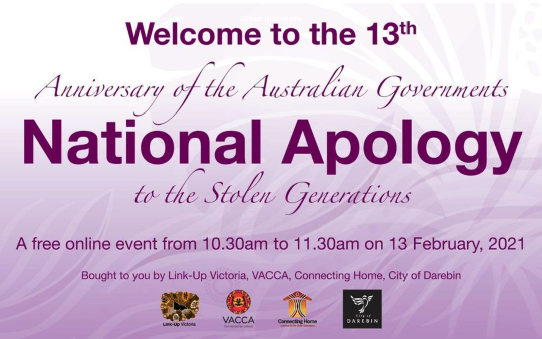 2021 Anniversary of the Apology to the Stolen Generations